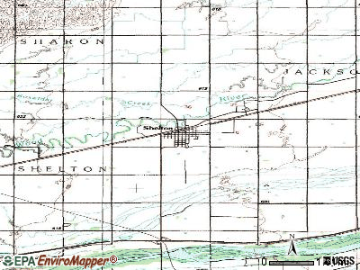 Shelton topographic map