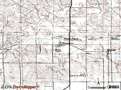 Stapleton topographic map
