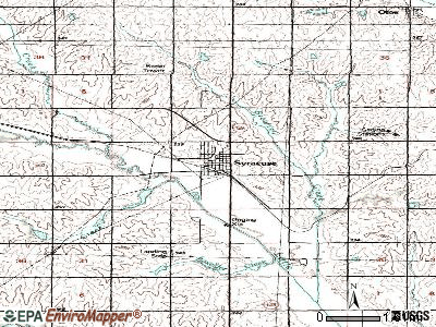 Syracuse topographic map