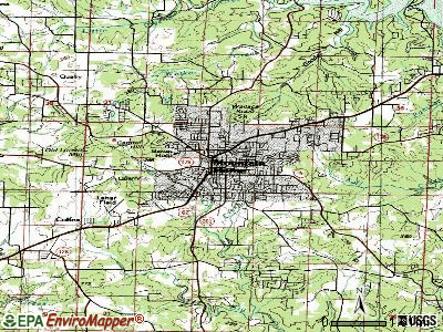 Mountain Home topographic map