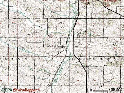 Walthill topographic map