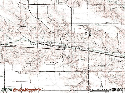 Wauneta topographic map