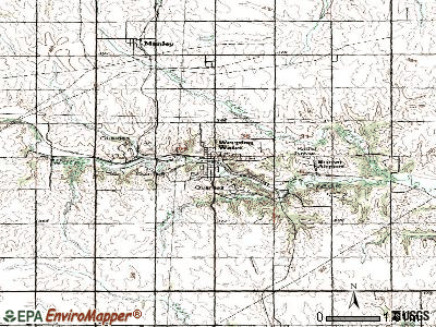 Weeping Water topographic map