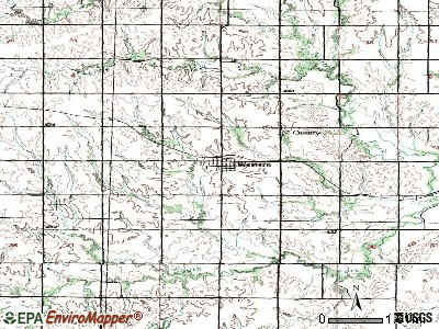 Western topographic map