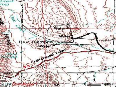 Blue Diamond topographic map