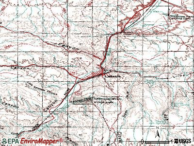 Caliente topographic map