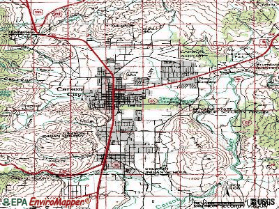 Carson City topographic map