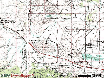 Cold Springs topographic map