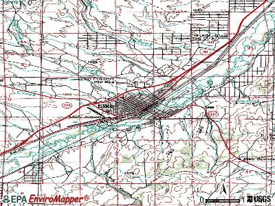Elko topographic map