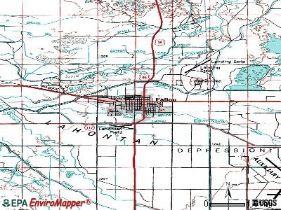 Fallon topographic map