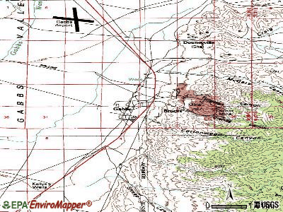 Gabbs topographic map