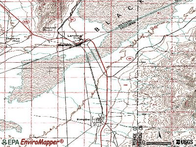 Gerlach-Empire topographic map