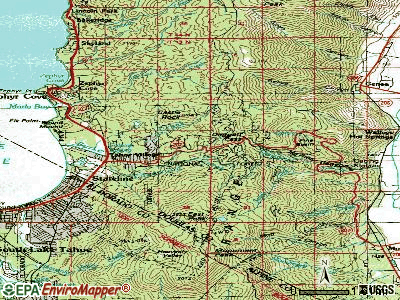 Kingsbury topographic map