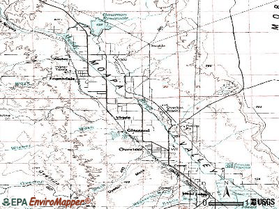 Moapa Valley topographic map