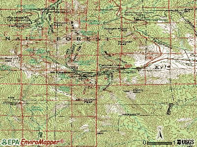 Mount Charleston topographic map