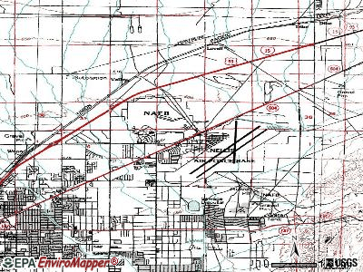 Nellis AFB topographic map