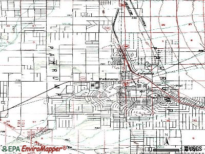 Pahrump topographic map