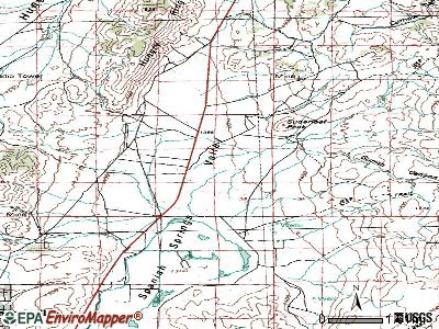 Spanish Springs topographic map