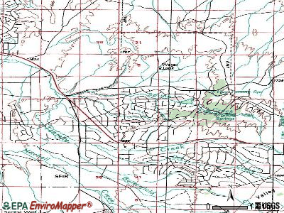 Spring Creek topographic map