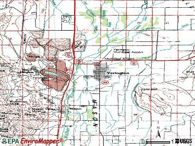 Yerington topographic map