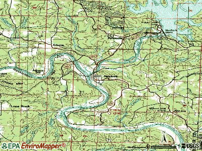 Norfork topographic map