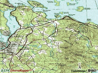 Gilford topographic map
