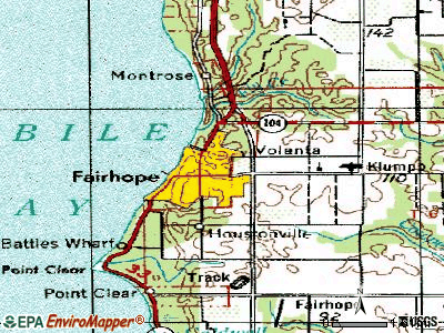 Fairhope topographic map