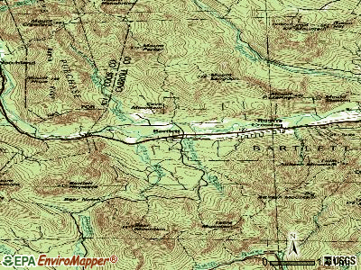 Bartlett topographic map