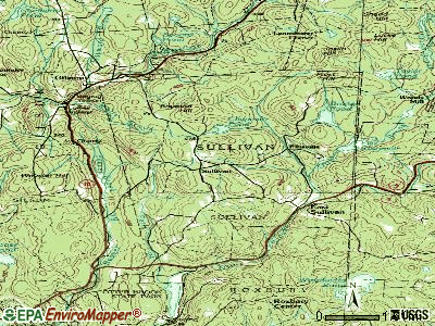 Sullivan topographic map
