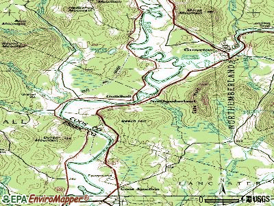Northumberland topographic map