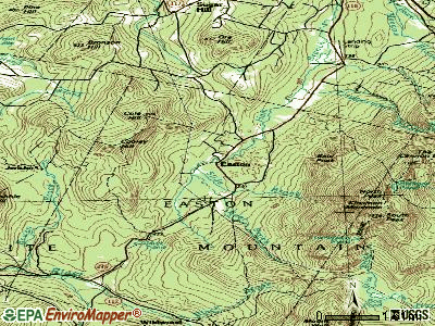 Easton topographic map