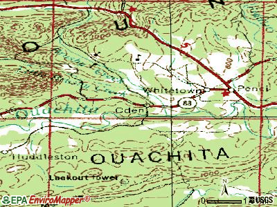 Oden topographic map