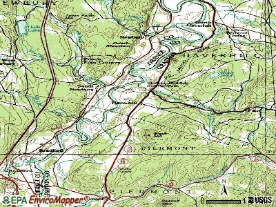 Haverhill topographic map