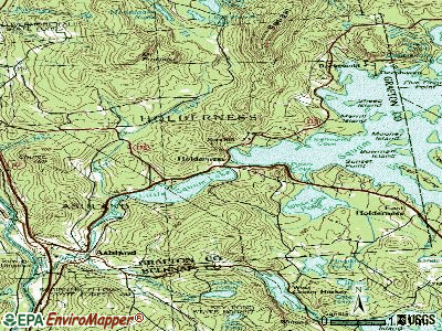 Holderness topographic map