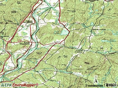 Lyme topographic map