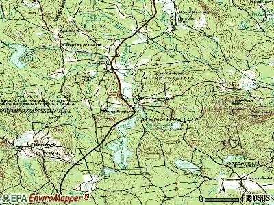 Bennington topographic map