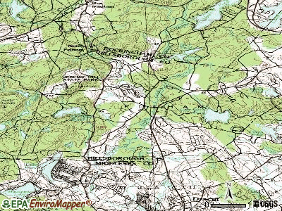 Pelham topographic map