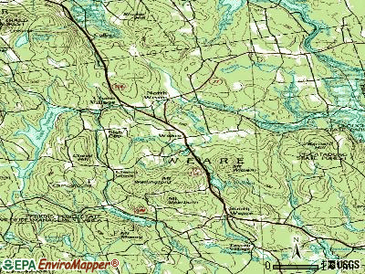 Weare topographic map