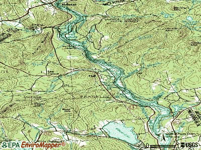 Hill topographic map
