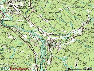 Pembroke topographic map