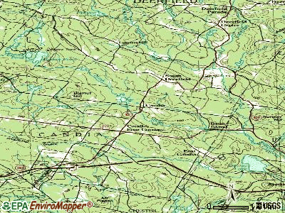 Candia topographic map
