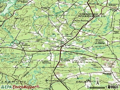 Epping topographic map
