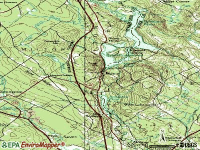 Milton topographic map