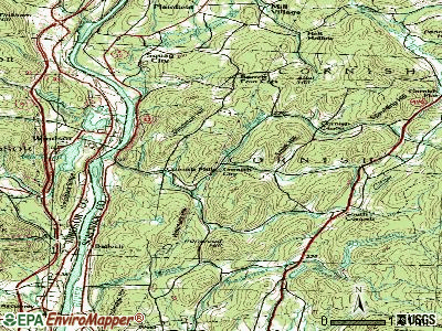 Cornish topographic map
