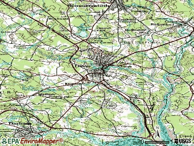 Dover topographic map