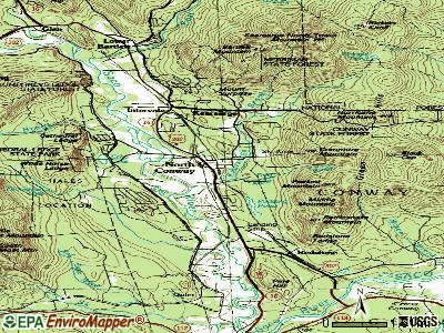 North Conway topographic map
