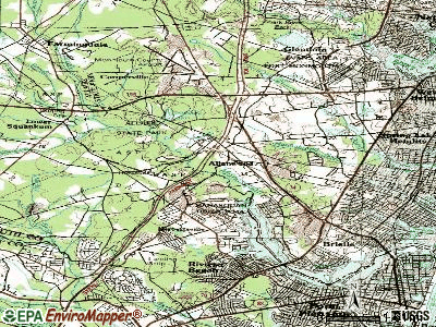 Allenwood topographic map
