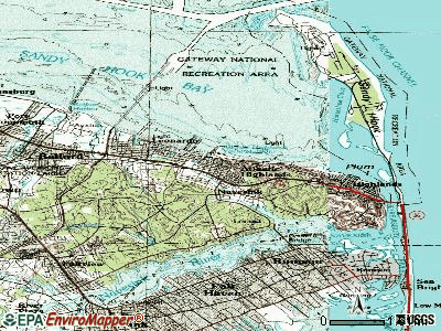 Atlantic Highlands topographic map