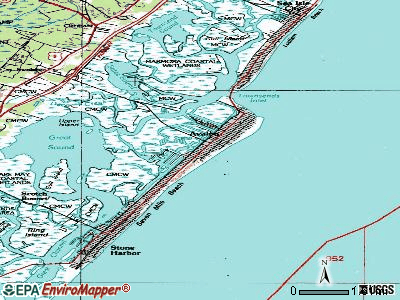 Avalon topographic map