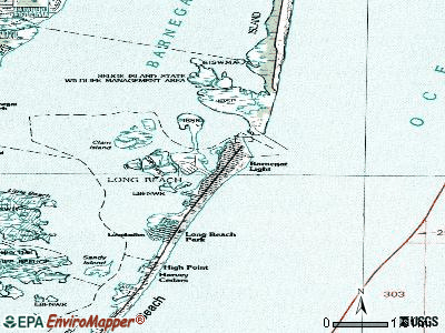 Barnegat Light topographic map